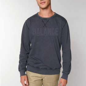 "Sweatshirt Unisex ""Balance"" Vintage grey - Yogia"