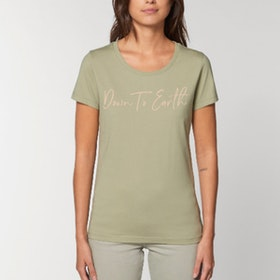 "T-shirt ""Down to earth"" Sage - Yogia"