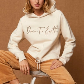 "Hoodie ""Down to earth""  Natural raw - Yogia"