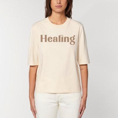 "T-shirt ""Healing"" Natural Raw - Yogia"