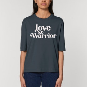 "T-shirt ""Love Warrior"" Ink grey - Soul Factory"