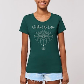 "T-shirt ""No Mud No Lotus"" Glazed green - Yogia"