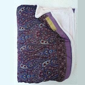 Yogafilt Sari/silke Plommon/blå - E-swiss