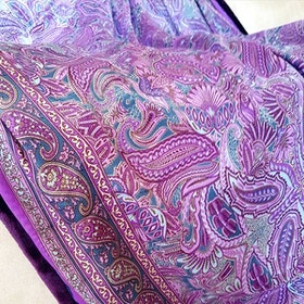 Yogafilt Sari/silke Lila orientalisk - E-swiss