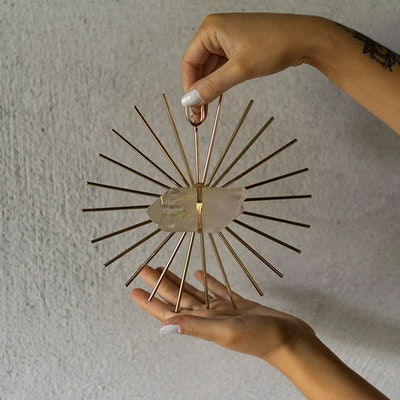 Kristall Healing  grid Sunburst Gold - Ariana Ost