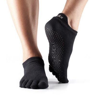 Yogastrumpor Fulltoe Low Rise Grip Black - Toesox