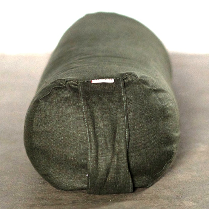 Yogabolster linne Khakigrön - Heppa Design