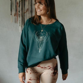 "Sweatshirt ""Moon bath"" Glazed Green - Yogia"