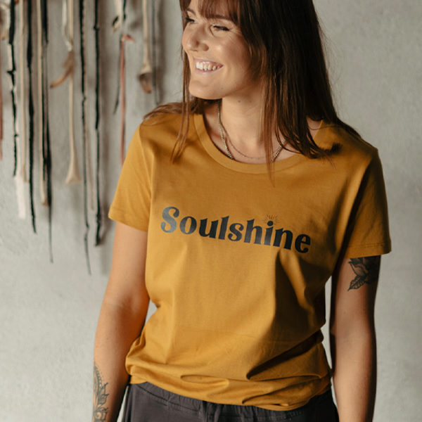"T-shirt ""Soulshine"" Ochre - Yogia"
