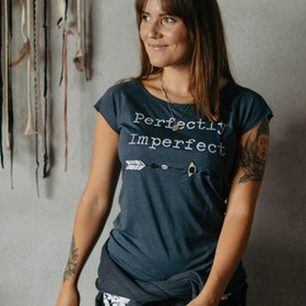 T-shirt Perfectly Imperfect Denim Blue - Yogia