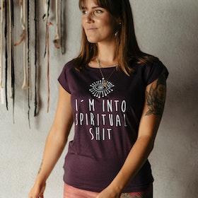 T-shirt I´m into spiritual shit Aubergine - Yogia