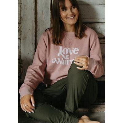 "Sweatshirt ""Love Warrior"" Canyon Pink - Soul Factory"