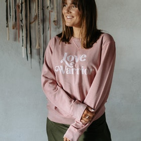 "Sweatshirt ""Love Warrior"" Canyon Pink - Yogia"