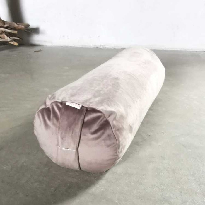 Yogabolster sammet Grå - Heppa Design