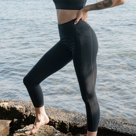 Yogaleggings Pocket High Rise Long Black - Girlfriend Collective
