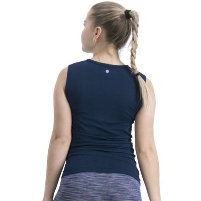 Yogalinne Basic Bamboo Tank Midnight Blue - Run & Relax