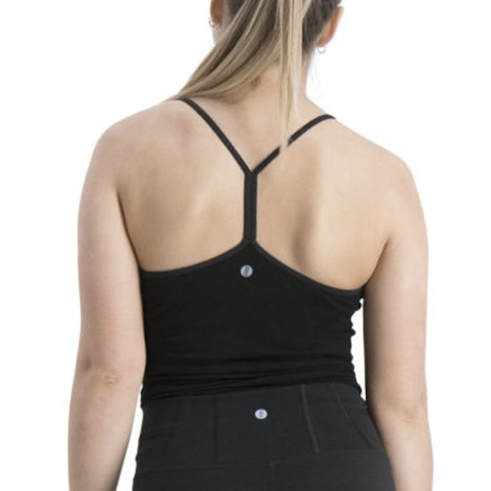 Yogalinne Karna Yogi Cami Beautiful Black - Run & Relax