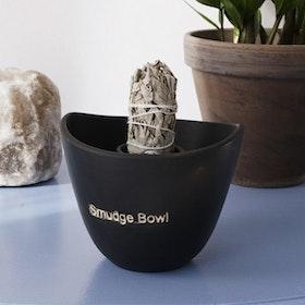 "Smudge Skål ""Smudge Bowl"" Black - Yogia"
