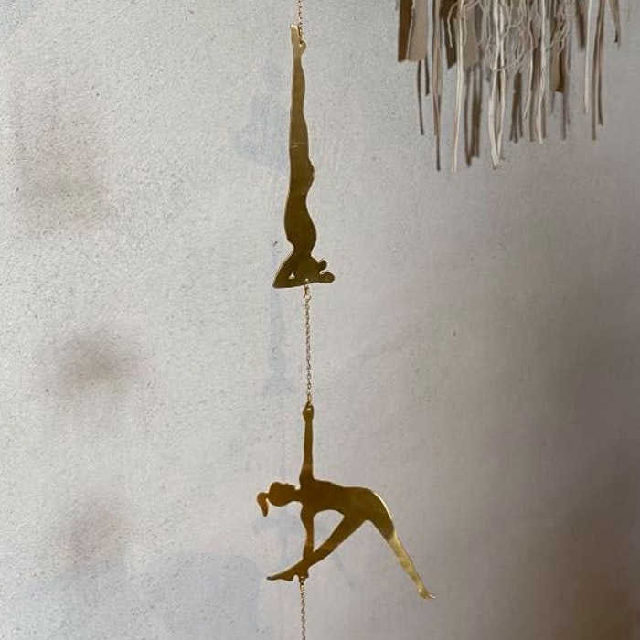 Vägg dekoration  Yoga Pose Gold - Ariana Ost