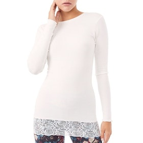 Yogatröja Long Shirt White - Mandala