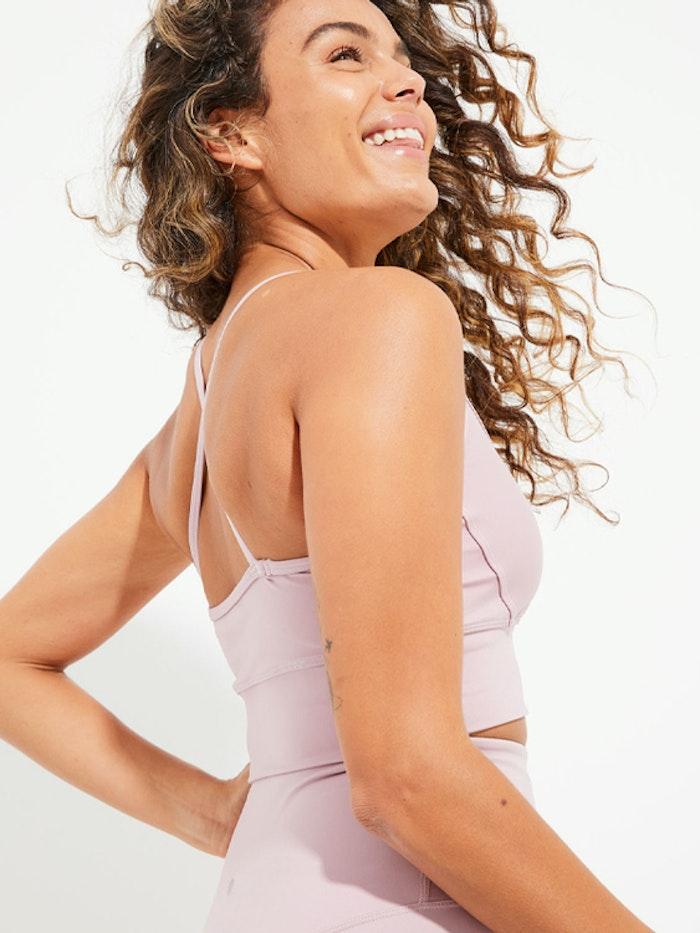 Sport-BH Yoga Wonder Luxe Ellis Crop Dusty Mauve - Dharma Bums