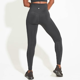 Yogaleggings High Waist Black Full Length - Dharma Bums