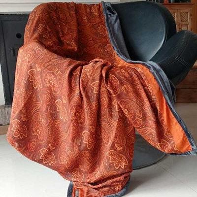 Yogafilt Sari/silke rost orientalisk - E-swiss