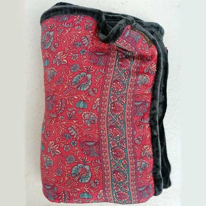 Yogafilt Sari/silke Raspberry dream - E-swiss