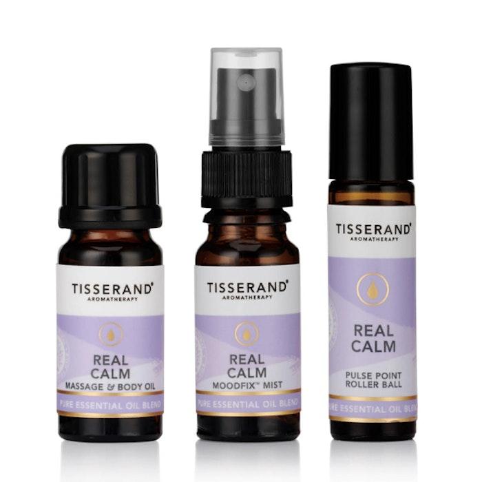 "Mist, Kropps- & Yogaolja ""Real Calm Discovery kit"" - Tisserand Aromatherapy"