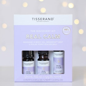 "Mist, Kropps- & Yogaolja ""Real Calm Discovery kit"" - Tisserand Aromatherapy"