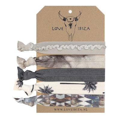 Hairties hårband/armband Palm Ink - Love Ibiza