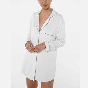 Nattskjorta Bambu Robbie Kit (grå) White - Movesgood