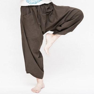 Haremsbyxor Ninja Style Drawstring Dark Brown