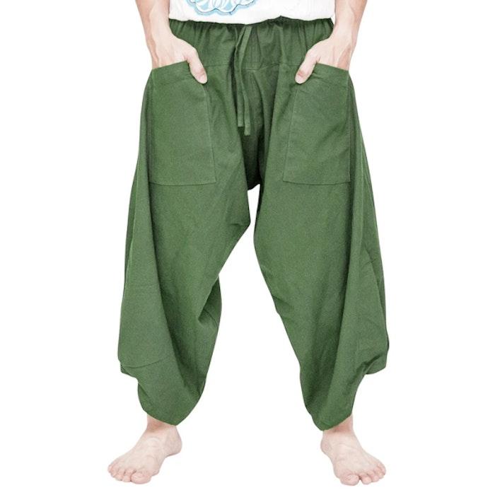Haremsbyxor Ninja Style Drawstring Green