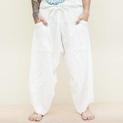 Haremsbyxor Ninja Style Drawstring White