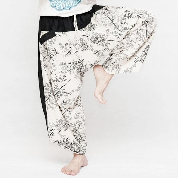 Haremsbyxor Ninja Style Drawstring Off-White Bamboo