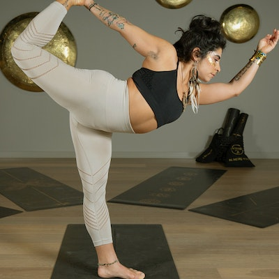 Yogaleggings Seamless Perfect fit 7/8 Champagne - Vackraliv Yoga