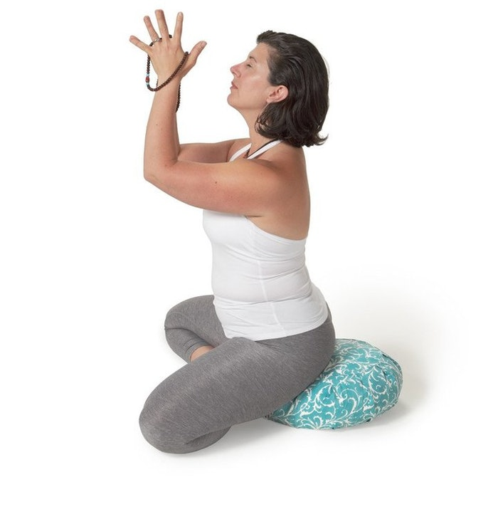 "Meditationskudde Chattra Zafu ""Slate Darpan"" - Chattra"