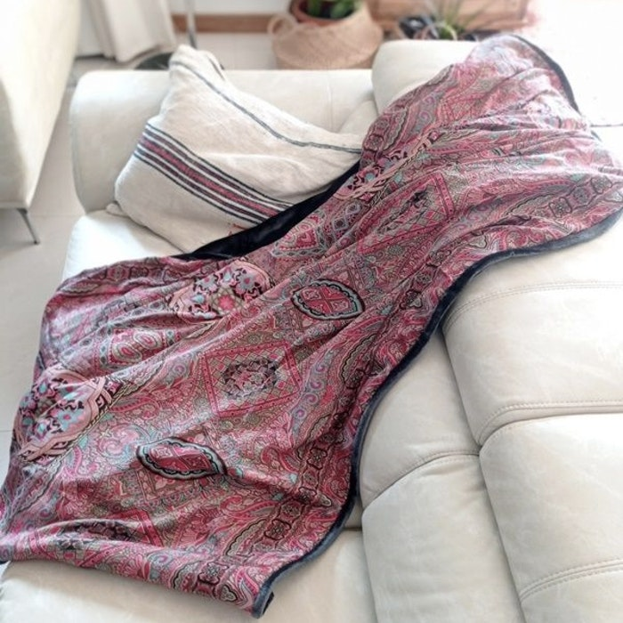 Yogafilt Sari/silke Sky Pink - E-swiss