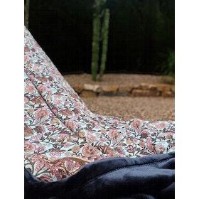 Yogafilt Sari/silke Aqua/Pink/Brown - E-swiss