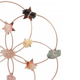 Kristall Healing  grid Flower Of Life Rainbow Rosé Large - Ariana Ost