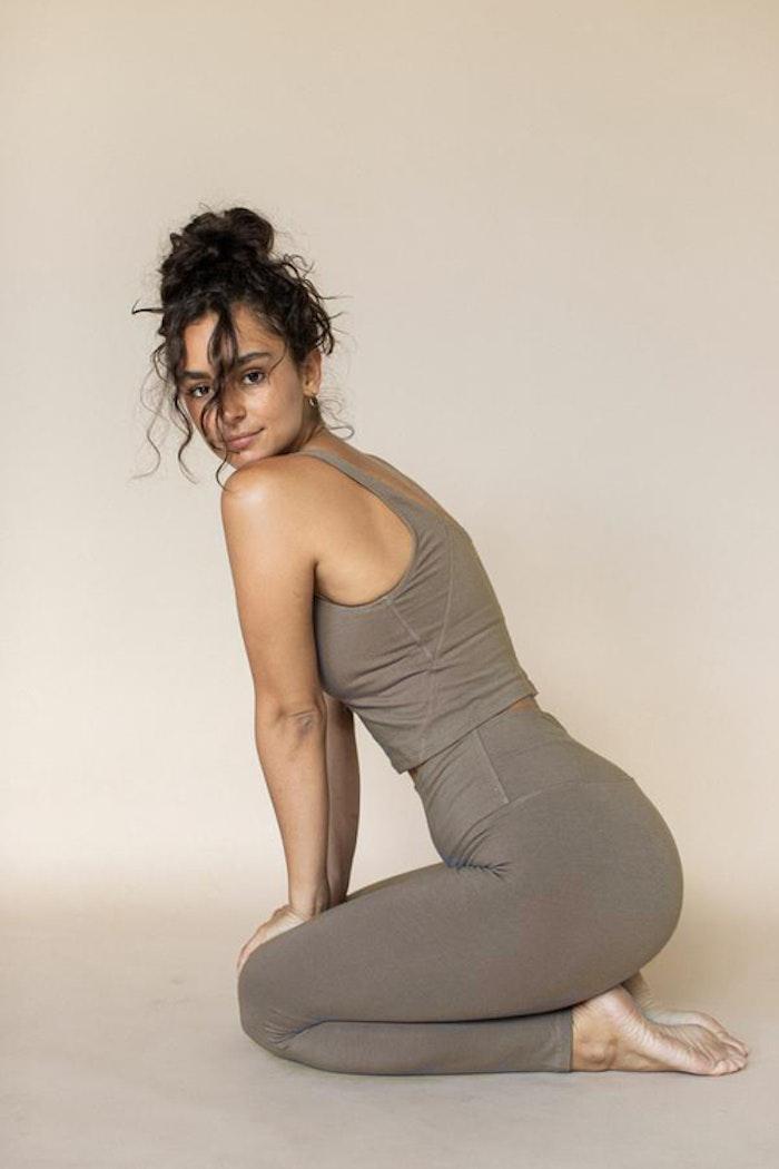 Yogabyxor Ananda leggings Ash (brun/grön)- Indigo Luna
