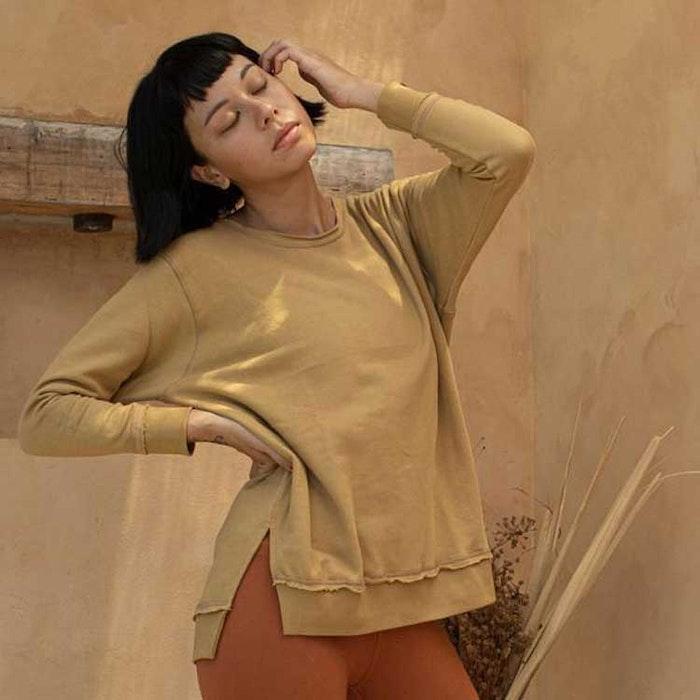Sweatshirt Ananda crew caramel - Indigo Luna