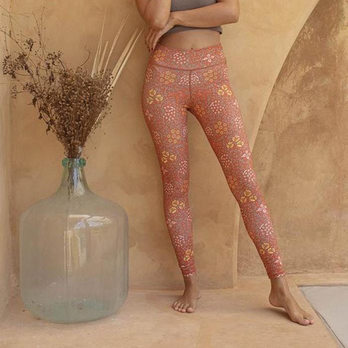 Yogaleggings Batik Sari Ochre - Indigo Luna