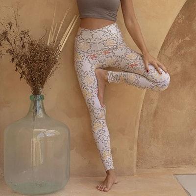 Yogaleggings Batik Sari Shell - Indigo Luna