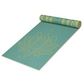Yogamatta 6mm Reversible Turquoise Lotus - Gaiam