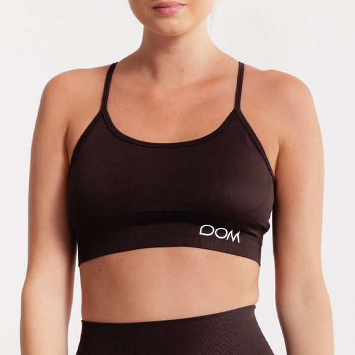 Sport-BH Yoga Seamless Trinity Dark Brown - DOM