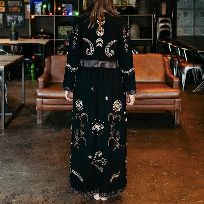 Kimono Angelina Duster Black - Zaimara