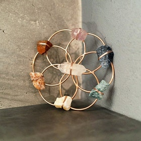 Chakra Healing grid Flower of Life Gold- Ariana Ost