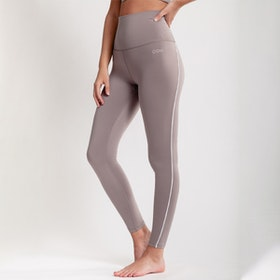 Yogaleggings Eden Piped Taupe - DOM